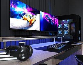 3D model computer gaming furnature