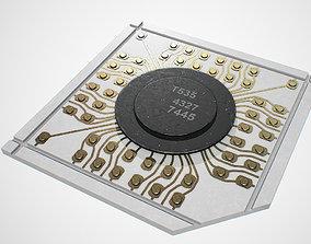 Vintage microchip 3D