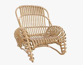 3D Boucle rattan armchair Kok Maison 627 1