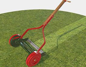 3D model Garden Lawn Push Mower