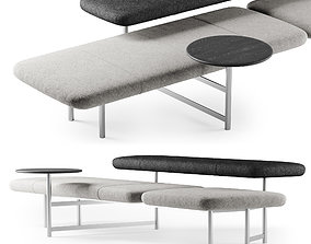 3D model Kanso bench with table