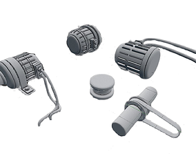 3D asset Electric engine pack