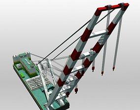 3D model Crane Barge