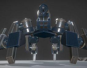 Futuristic Terrain Walker Blue Version Rigged and 3D model
