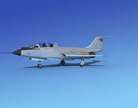 3D model McDonnell F-101B Voodoo Bare Metal