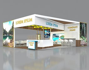 3D Booth Exhibition Stand Stall 8x10m Height 350 cm 2