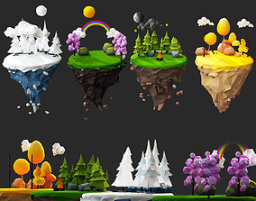 Floating Islands winter summer Spring Autumn game-ready 2
