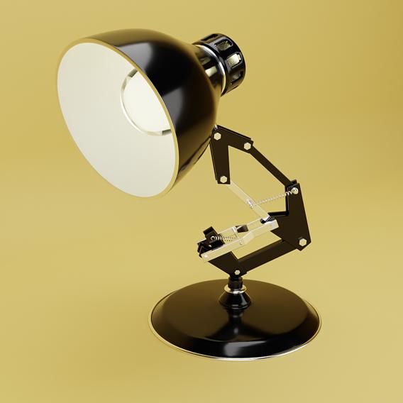 Pixar Lamp Low-poly 3D model