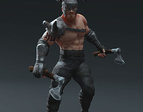 3D asset rigged Viking