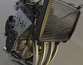 3D model Yamaha r6 Engine