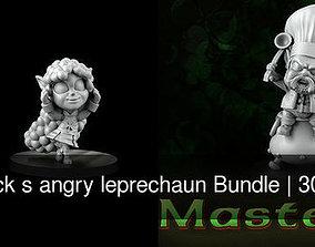 3D model St- patrick s angry leprechaun Bundle