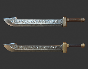 3D model Cleaver Sword