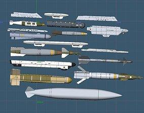 3D model USAF A-10C Weapons Set