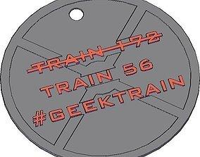 3D printable model Geektrain Keychain