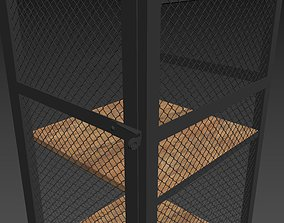 3D asset Cage cabinet Mesh-Low Poly