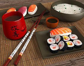 3D Sushi Set