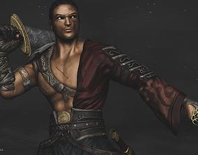 Samurai Warrior - With Armor-Sword-Katana - Model High 3D
