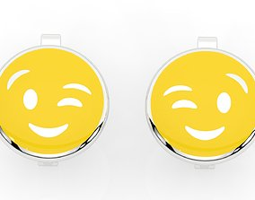 3D print model childrens earrings smile