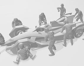 3D printable model PIT CREW TEAM
