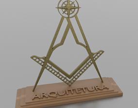 3D printable model simbolo arquitetura