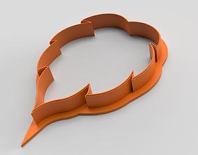 Cookie cutter - Leaf 3D printable model