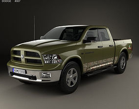 3D model Dodge RAM 1500 Mossy Oak Edition 2014