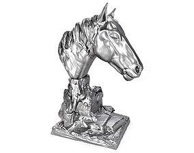 Horse Head 3D print model 02