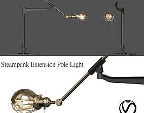 3D model Steampunk Extension Pole Light