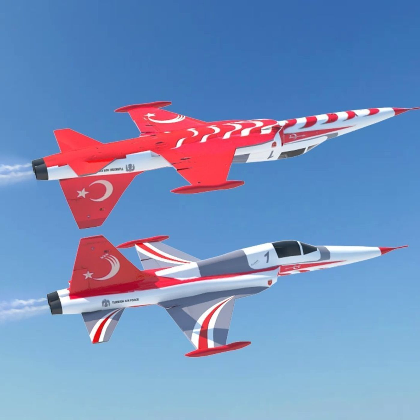 Turkish Stars F-5 Aircraft