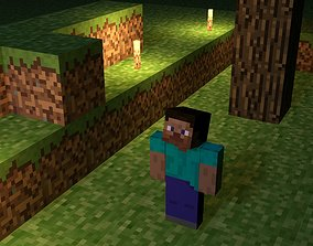 Steve of Minecraft 3D model