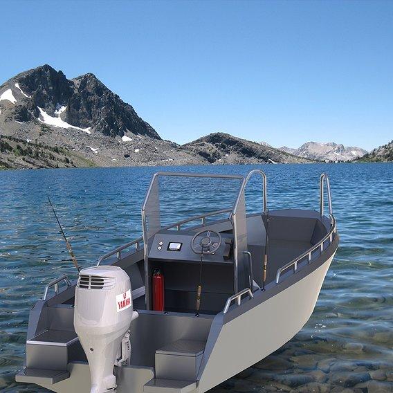 Aluminium boat 6 meters