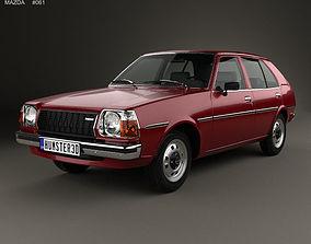 3D Mazda 323 Familia 1978