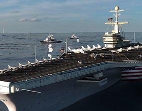 Aircraft Carrier - Nimitz-class nuclear-powered 3D