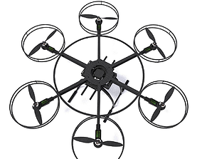 3D hexacopter drone