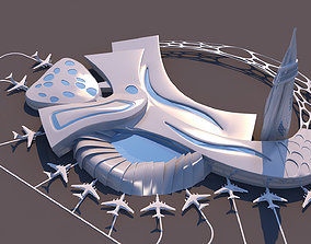 Air Port Organic Form - Heart Concept 3D model