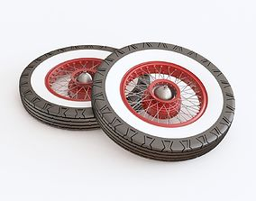 Antique car wheel 3D model