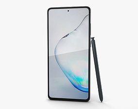 3D model Samsung Galaxy Note10 Lite Aura Black