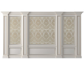 3D Wall paneling classic wallpaper