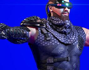 3D model Sci Fi Cyberpunk Action Male-Ednar Cylo