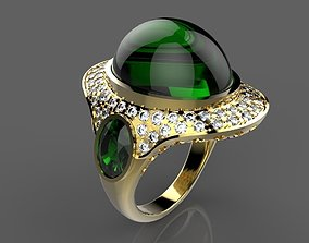 Ring izumrud 013 3D print model