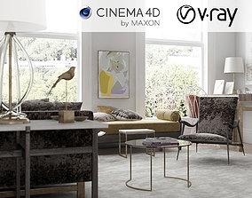 3D VRay - C4D Scene files - Living Room