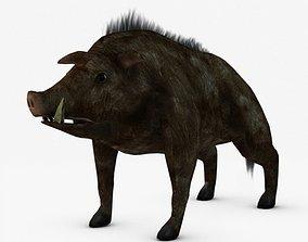 Low poly boar 3D