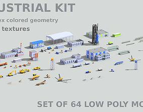 Industrial set 3D model