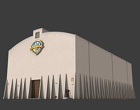 3D model Warner Brothers Sound Stage Building