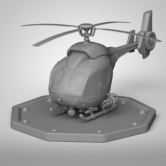 Game ready helicopter model