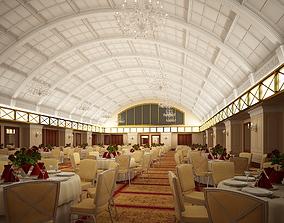Classic Hall Restaurant 3D