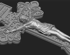 JESUS ON THE CROSS 3D print model 2