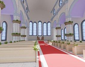 Toon Church 3D model