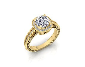 3D print model Solitaire Ring 18