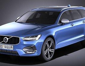 3D Volvo V90 Estate R design 2017